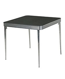 Stylaire 32-Inch Square Vinyl Top Folding Table