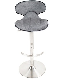 Ecco Faux Fabric Adjustable Swivel Barstool