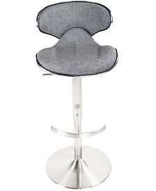 MIX Ecco Faux Fabric Adjustable Swivel Barstool