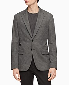 Men's Slim-Fit Heathered Check Blazer