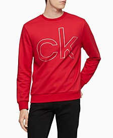 Men's Metallic Logo Print Crewneck Sweatshirt