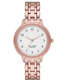Kate Spade New York Women's Morningside Rose Gold-Tone Stainless Steel Bracelet Watch 38mm