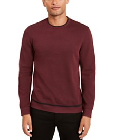 Alfani Men's Classic-Fit Tipped Sweatshirt, Created for Macy's