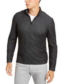 Alfani Men's Solid Quarter-Zip Sweater, Created for Macy's