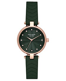 Women's Annadale Green Leather Strap Watch 30mm