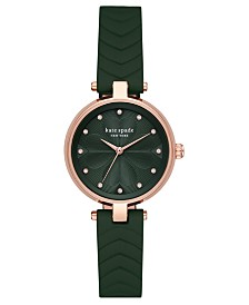 Kate Spade New York Women's Annadale Green Leather Strap Watch 30mm