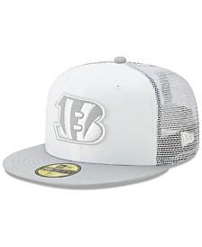 New Era Cincinnati Bengals White Cloud Meshback 59FIFTY Cap