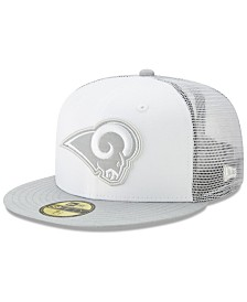 New Era Los Angeles Rams White Cloud Meshback 59FIFTY Cap