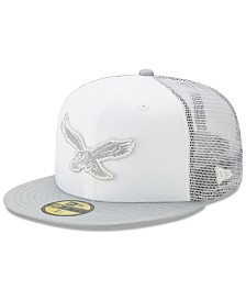 New Era Philadelphia Eagles White Cloud Meshback 59FIFTY Cap