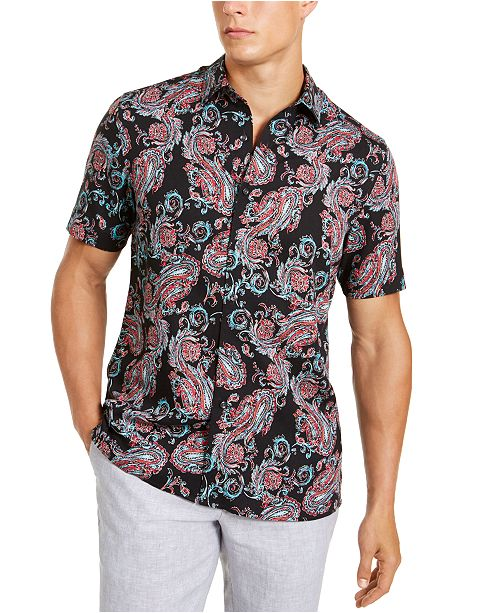 Tasso Elba Men's Aroma Paisley Shirt