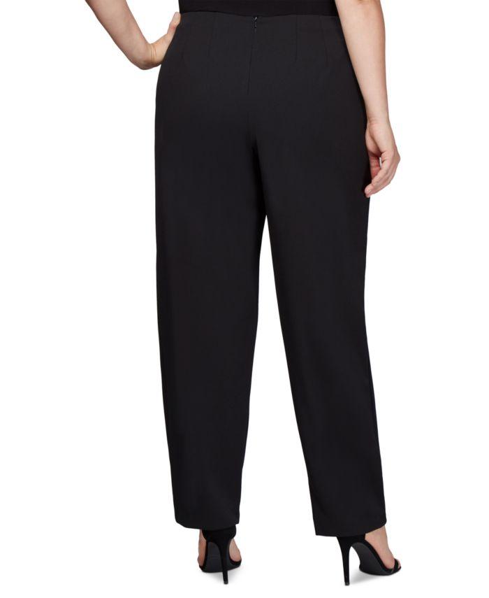 Alex Evenings Plus Size Slim-Leg Crepe Pants & Reviews - Dresses - Plus Sizes - Macy's