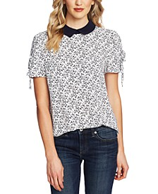 Floral-Print Peter Pan-Collar Top