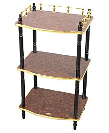 Uniquewise 3-Tier Telephone Table, Small Book Shelf, Accent Side and End Table