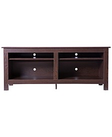Wooden TV Stand Console Table with Shelves