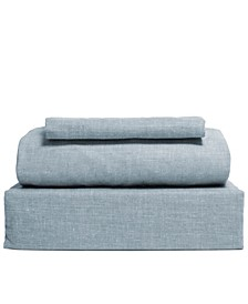 Chambray 3-Piece Sheet Set, Size- Twin