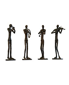 Home Jazzy Quartet Sculpture- Set of 4
