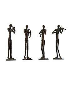 SPI Home Jazzy Quartet Sculpture- Set of 4