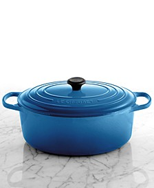 Signature Enameled Cast Iron 9.5 Qt. Oval French Oven