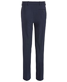 Big Boys Classic-Fit Stretch Navy Blue Twill Dress Pants