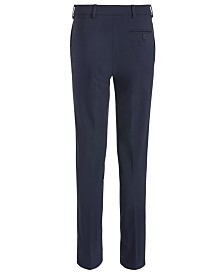 Lauren Ralph Lauren Big Boys Classic-Fit Stretch Navy Blue Twill Dress Pants