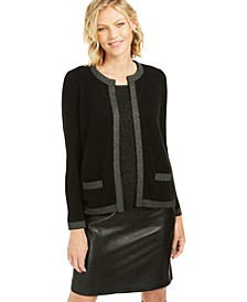 Lurex Trim Cashmere Cardigan, Created For Macy's