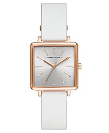 Women's Lola White Leather Strap Watch 30mm