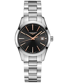 Women's Swiss Conquest Classic Stainless Steel Bracelet Watch 34mm