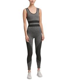 DKNY Sport Cutout-Back Seamless Jumpsuit