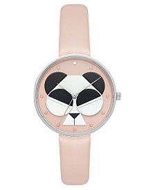 Kate Spade New York Women's Metro Vellum Leather Strap Watch 36mm