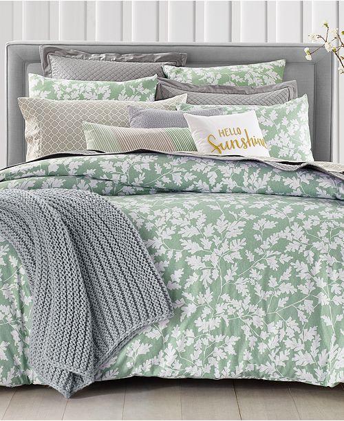 Charter Club Oak Leaf 2-Pc. Twin Comforter Set, Created for Macy's