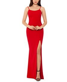 Betsy & Adam Scoop-Neck Gown