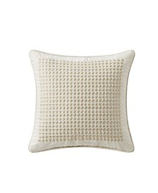 "Daphne 14"" X 14"" Embroidered Square Decorative Pillow"
