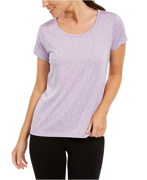 Ideology Striped Lattice-Back T-Shirt, Created for Macy's