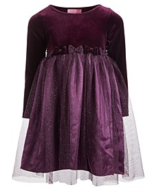 Little Girls Velvet Glitter Dress