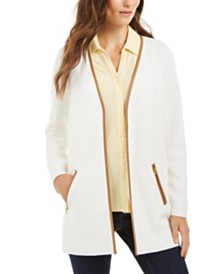 Charter Club Milano Cotton Open-Front Cardigan, Created for Macy's