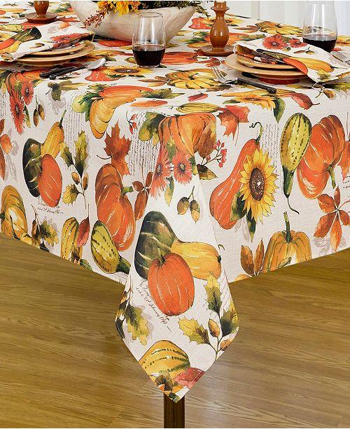 "Elrene Grateful Season Fall Printed Tablecloth, 52""x70"""