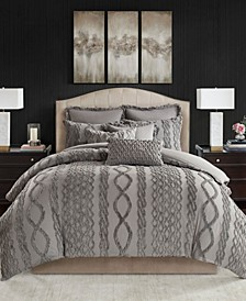 Aran Isles Queen 8-Pc. Tufted Chenille Comforter Set