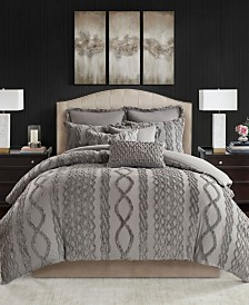 Madison Park Signature Aran Isles Queen 8-Pc. Tufted Chenille Comforter Set