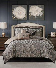 Grandover King 9-Pc. Jacquard Comforter Set