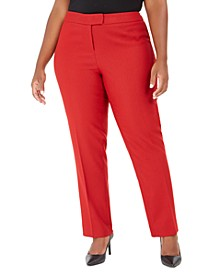 Plus Size Straight-Leg Trousers