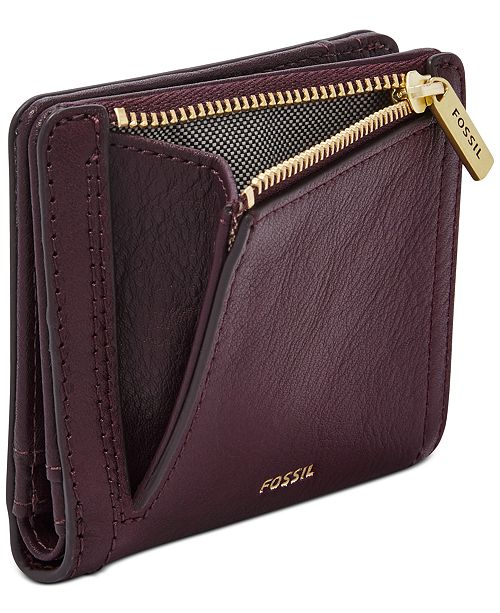 Fossil RFID Logan Butterfly Leather Bifold Wallet ...