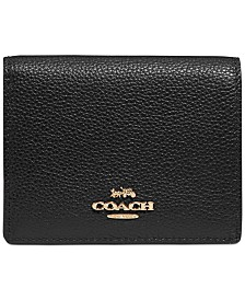 COACH Pebbled Leather Snap Wallet