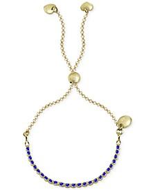 Beaded Adjustable Bracelet in Gold-Plate Over Sterling Silver