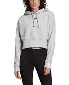 adidas Originals Vocal Cotton Cropped Hoodie