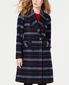 Double-Breasted Plaid Coat, Created for Macy's