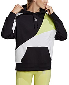 Women's Cotton Colorblocked Hoodie