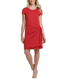 DKNY Wrap-Skirt Dress