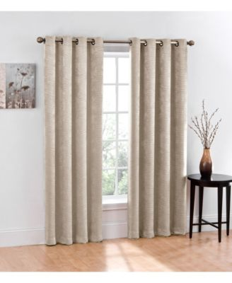 Chevron Blackout 2-Pack Grommet Curtain, 84