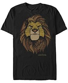 Disney Men's Lion King Noble Simba Short Sleeve T-Shirt