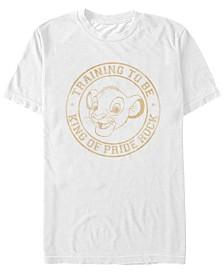Disney Men's Lion King Simba King In Training Short Sleeve T-Shirt